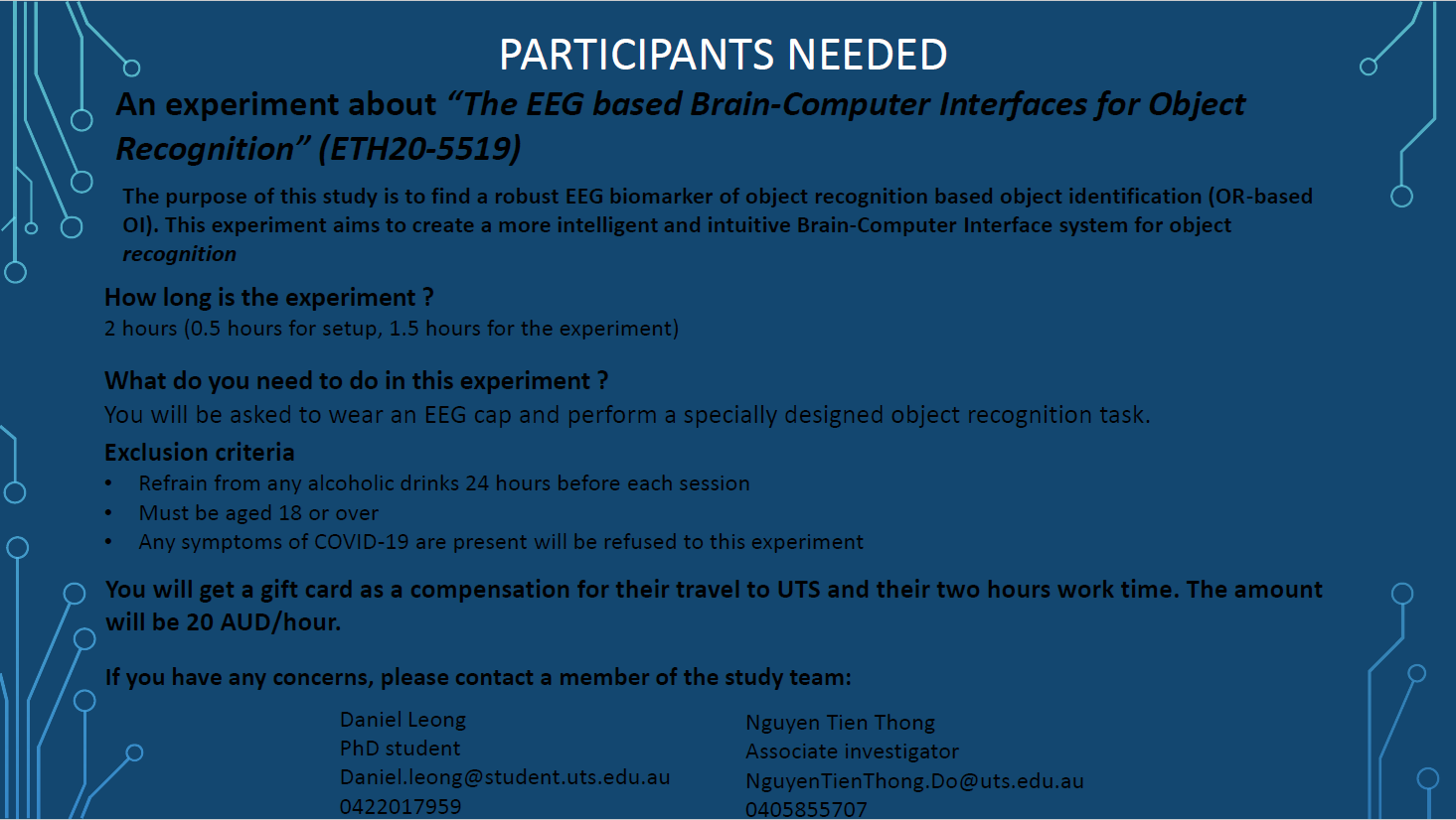 Call for participant